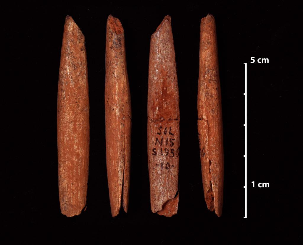 Pointe de sagaie à base fendue aurignacienne